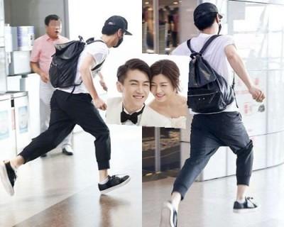 陳妍希老公機場狂奔躲媒體 問題出在口罩裡……