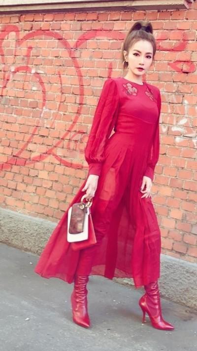 謝金燕全身變時尚 粉絲一句「台語的美」引戰