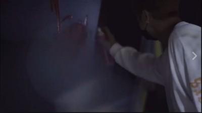 (影音)羅志祥朝阿信潮店噴紅漆  怒嗆「叫你們老闆出來」