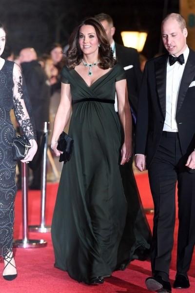 英奧斯卡》眾星再穿黑衣反性騷    凱特王妃一身綠惹議