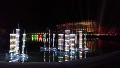 (影音)台灣燈會繽紛水影  故宮南院光雕秀最吸睛