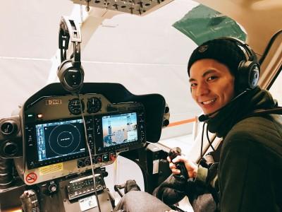 金馬男星坐直升機上班   為新片惡補英文