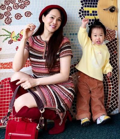 伊能靜放手 快2歲愛女小米粒上學了