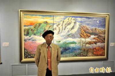 中山畫廊「三家大展」 醫師畫家趙宗冠畫出永恆台灣