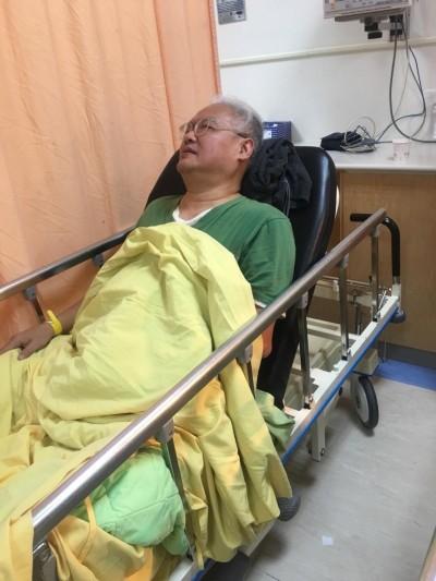 公車急煞范可欽輪椅翻覆 肋骨重傷緊急送醫