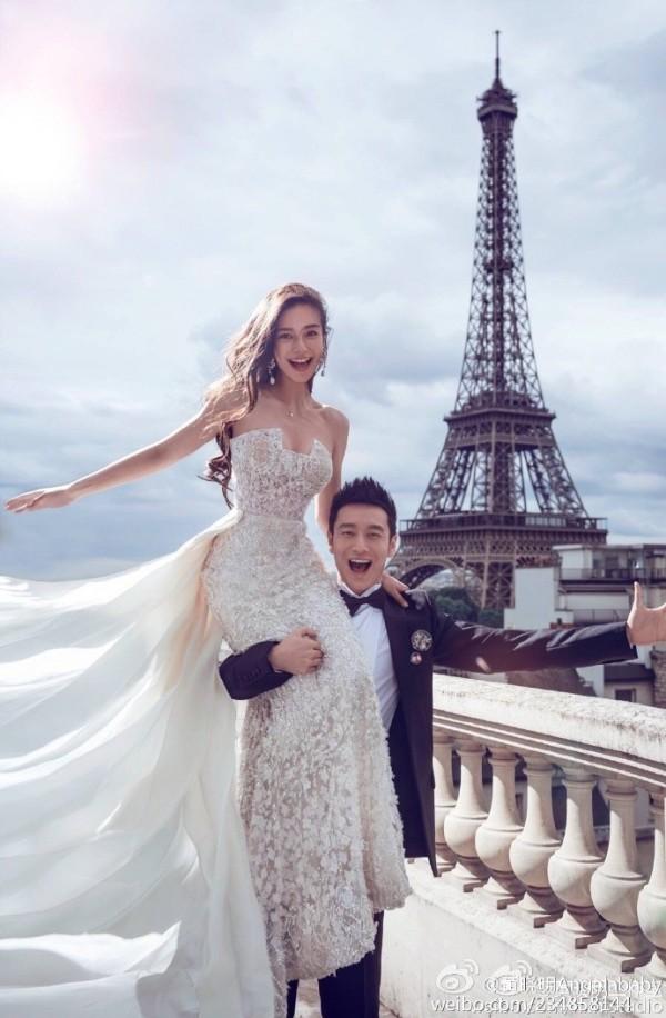 黃曉明和Angelababy愛情長跑5年,去年修成正果。(翻攝自微博)