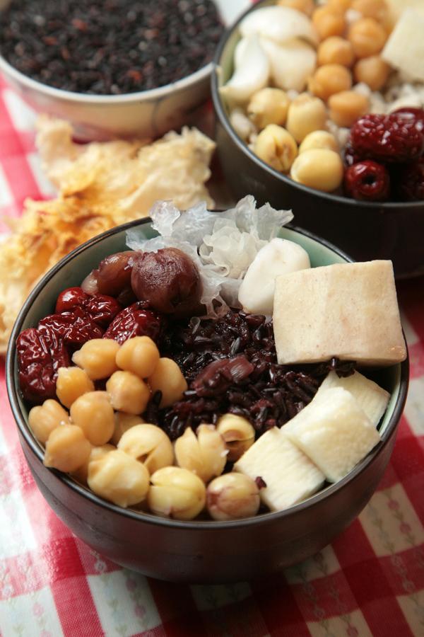 紫米八寶粥