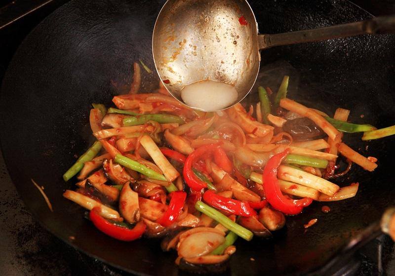 豆瓣醬炒素八寶