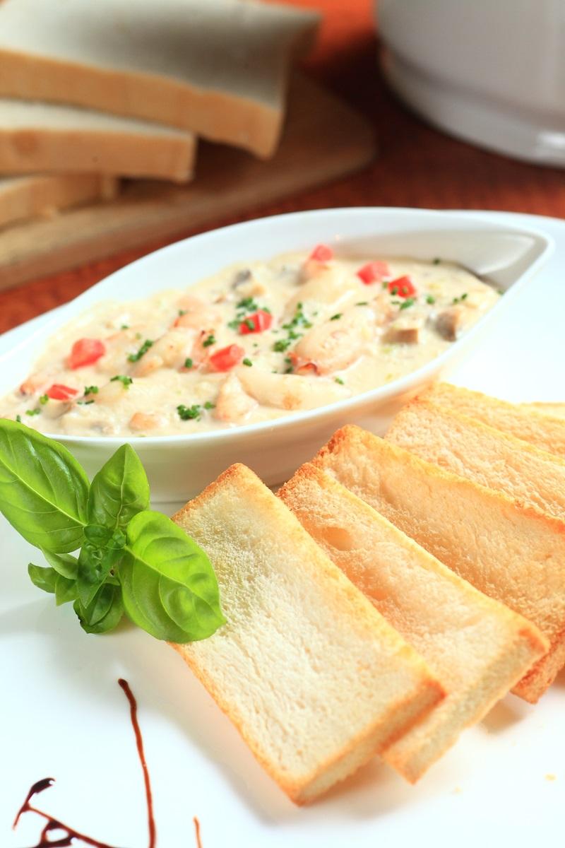 奶油蟹肉吐司