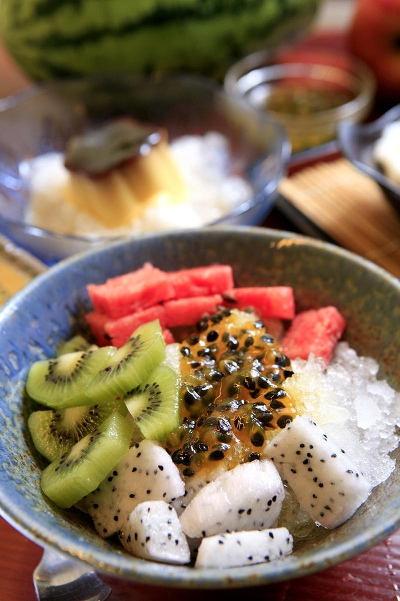 百香果醬水果剉冰