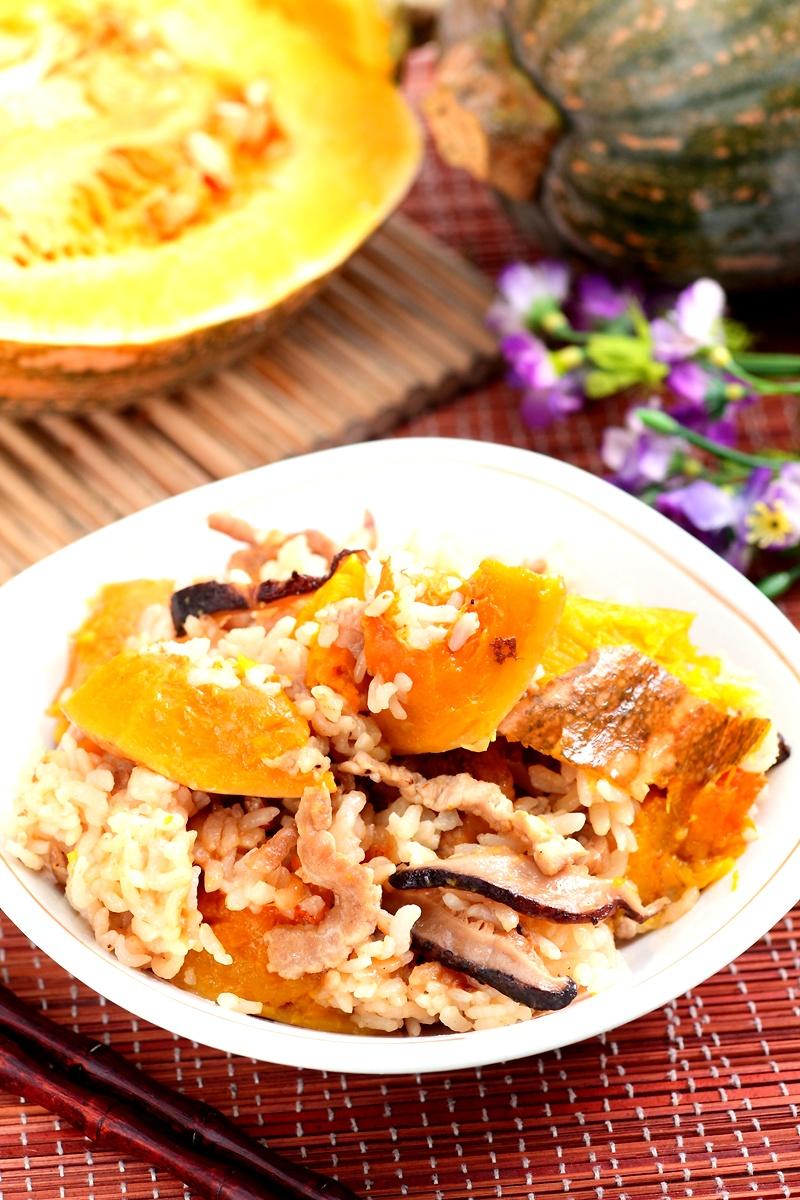 南瓜肉絲燉飯