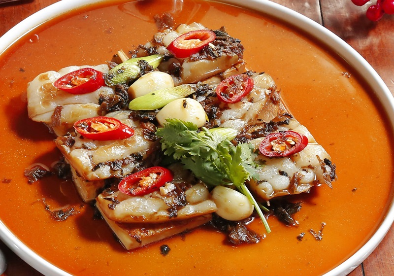 苦瓜梅菜燒豆腐