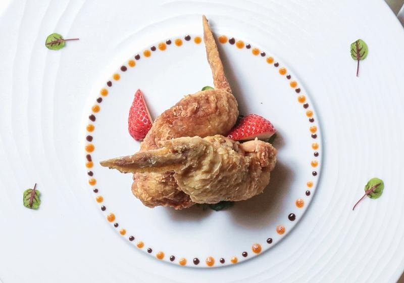 野菌白玉燉飯鑲雞翅