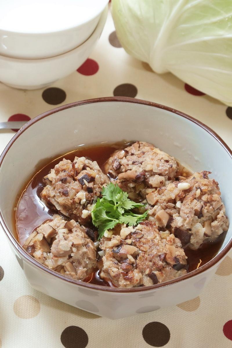 豆豉蒸肉丸
