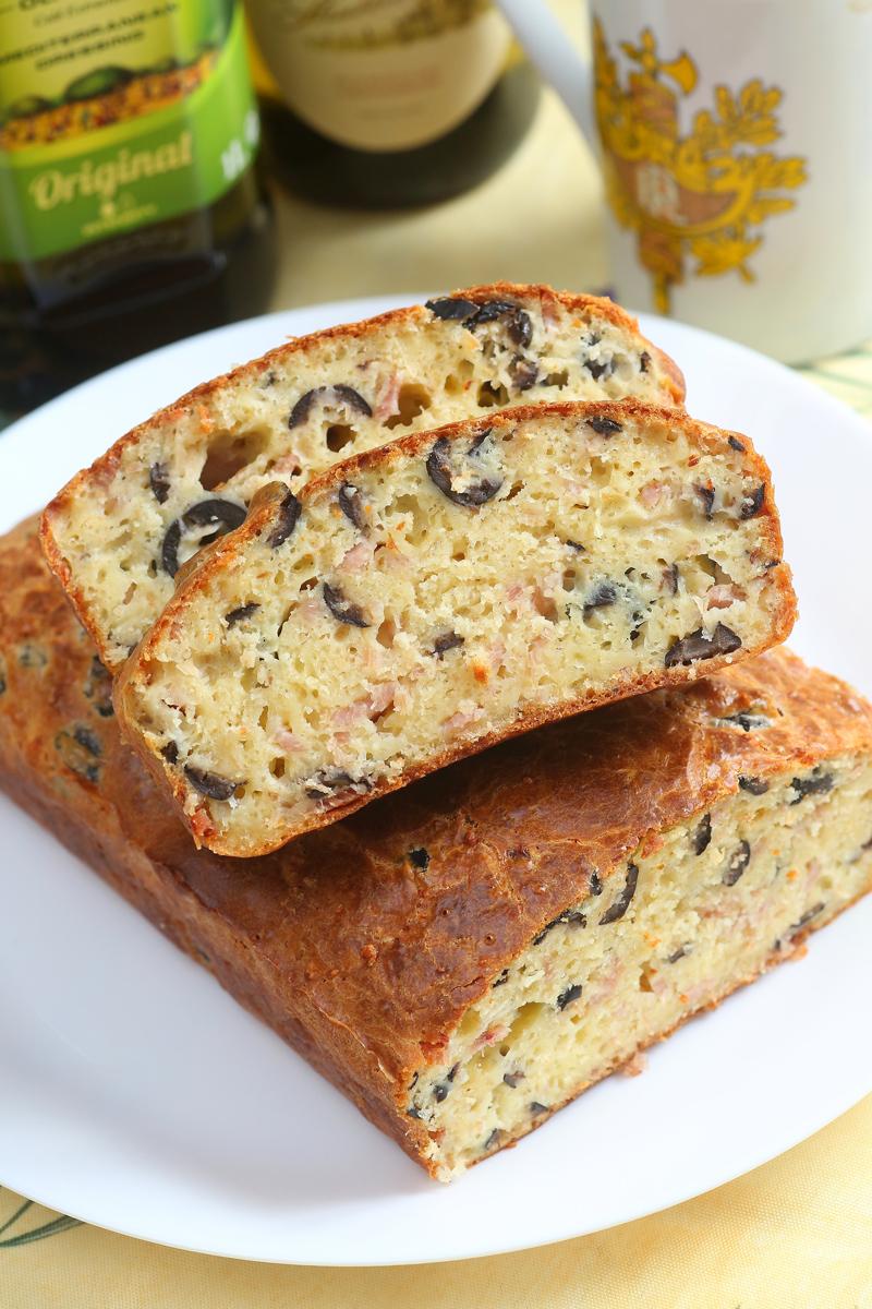 法式橄欖鹹蛋糕