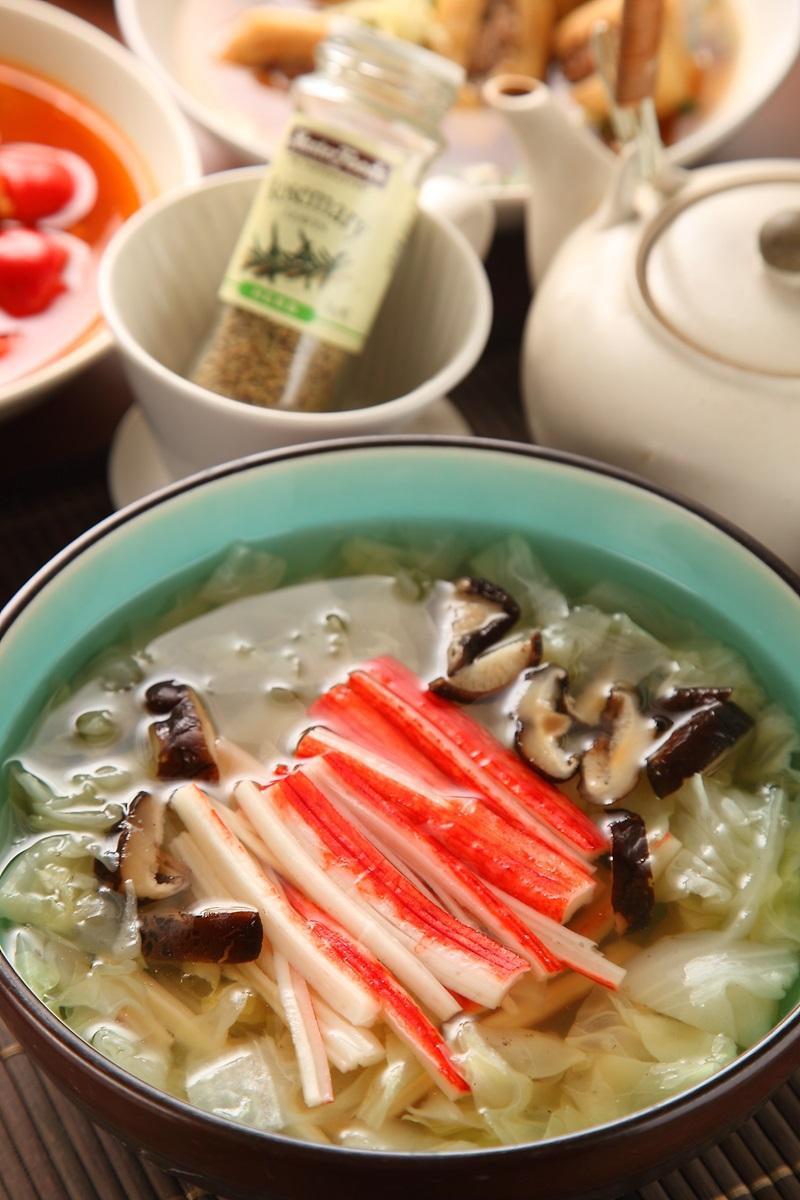 白菜蟹肉湯