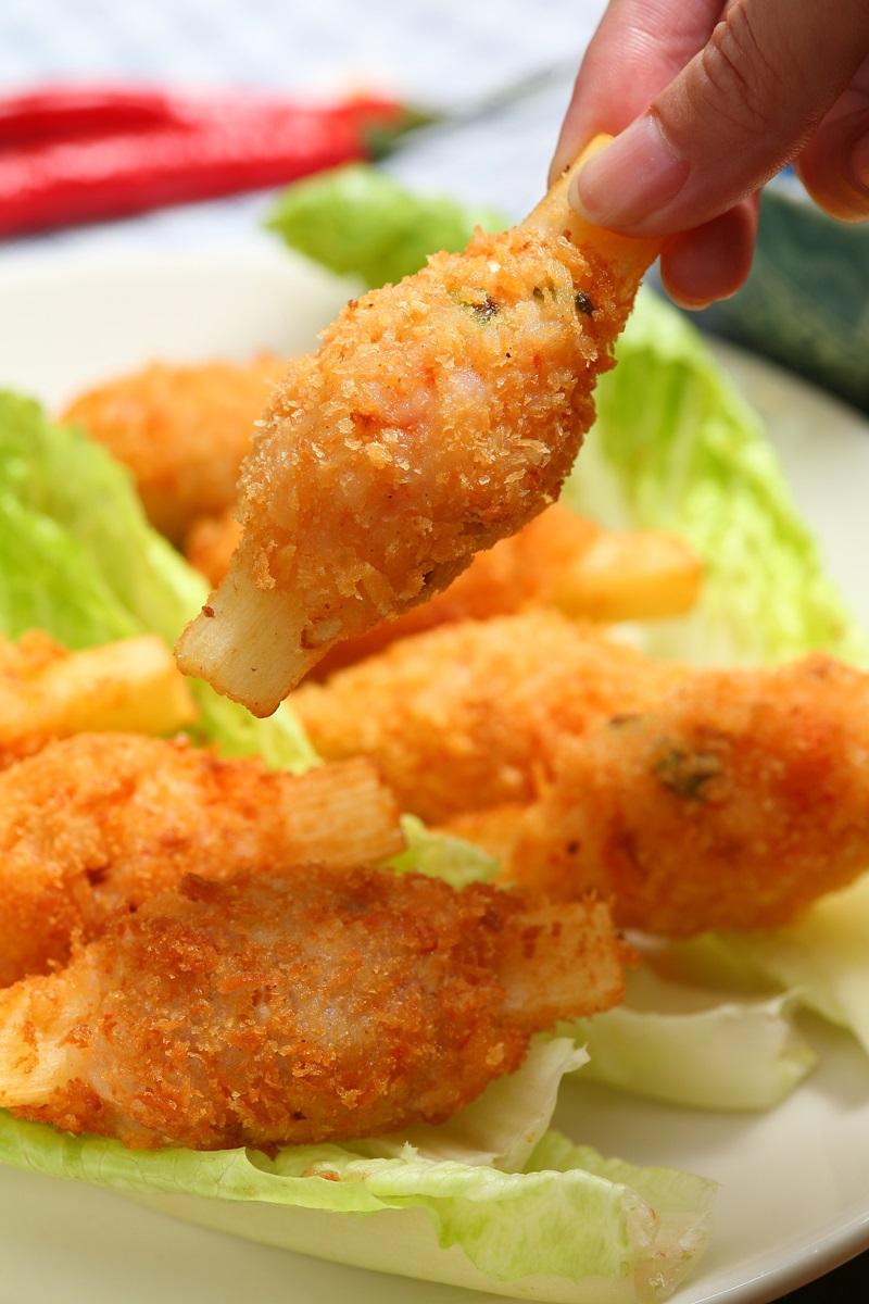 酥炸甘蔗蝦