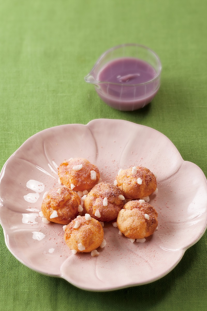 櫻花米粉法式小泡芙