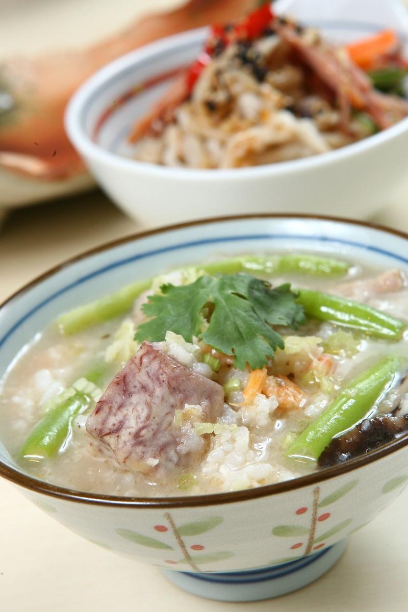 脆筍香芋豬肉粥