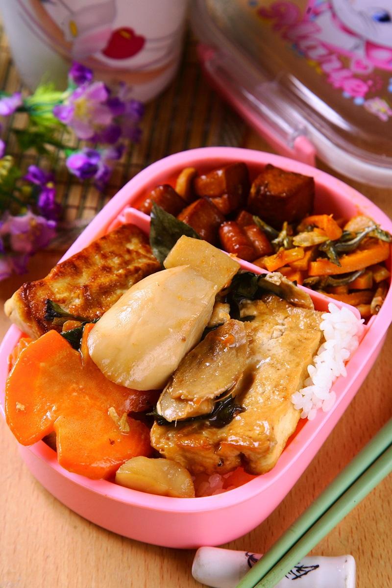 三杯豆腐干貝菇