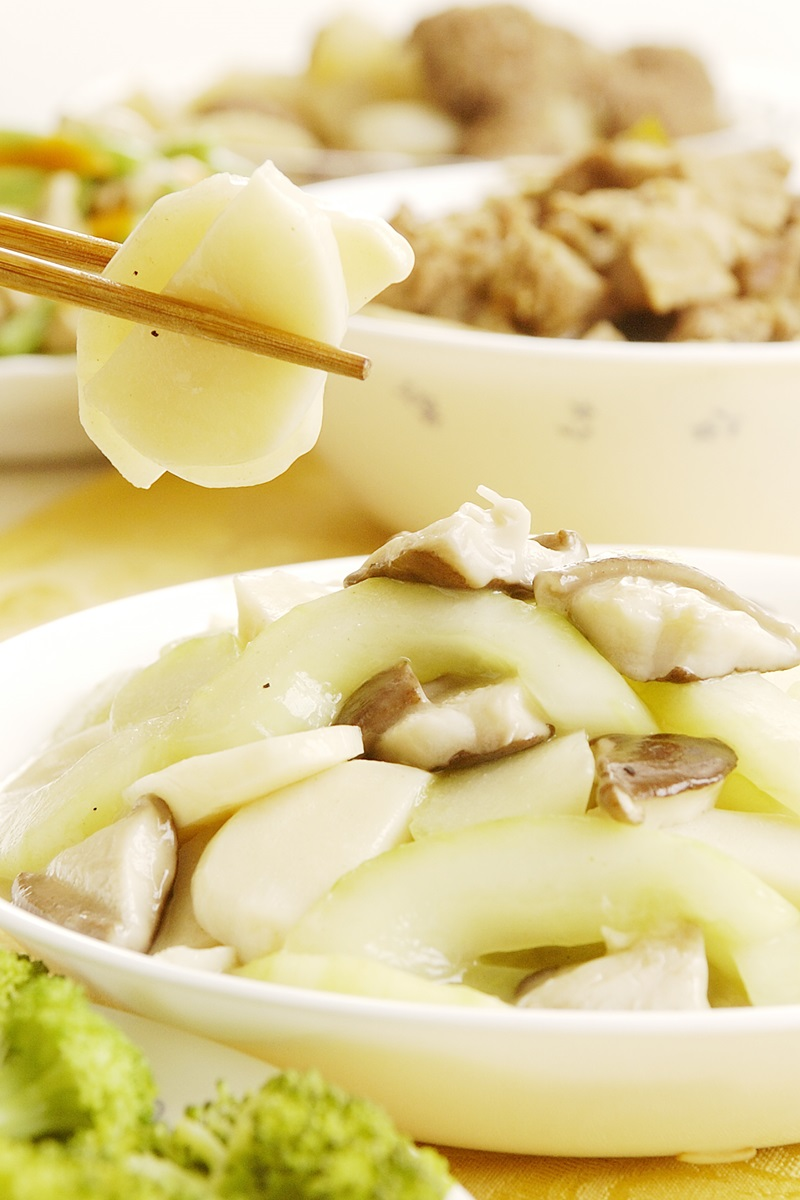 大黃瓜炒筍片