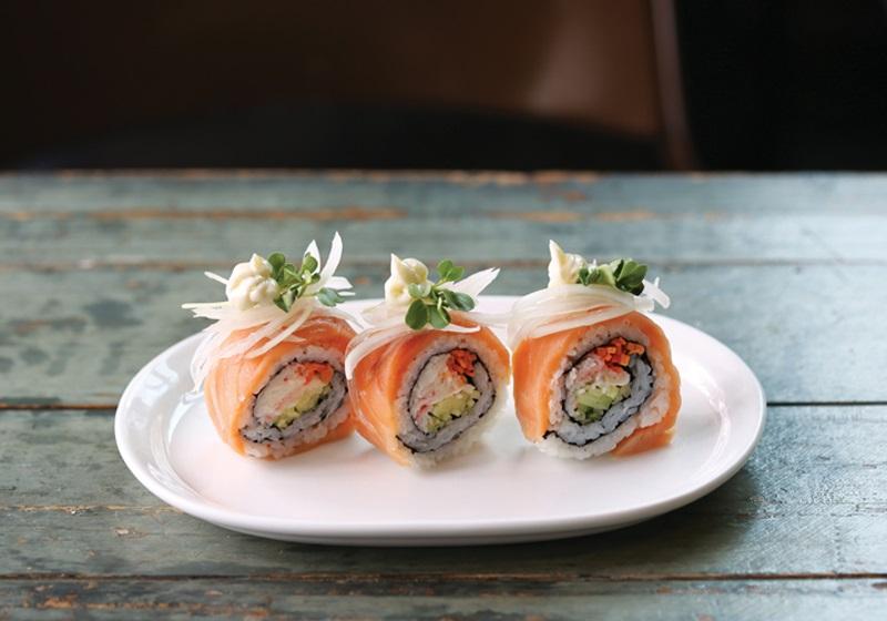 鮭魚洋蔥壽司捲