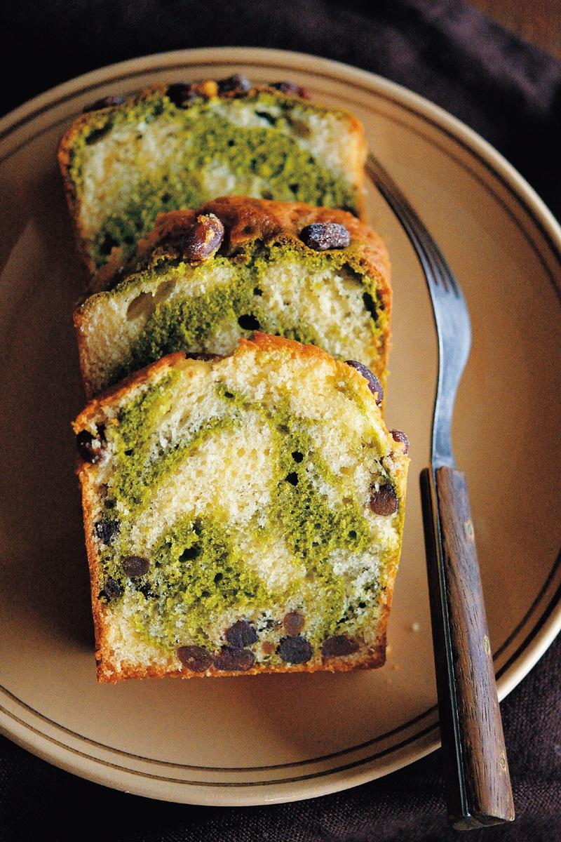 抹茶甘納豆大理石磅蛋糕