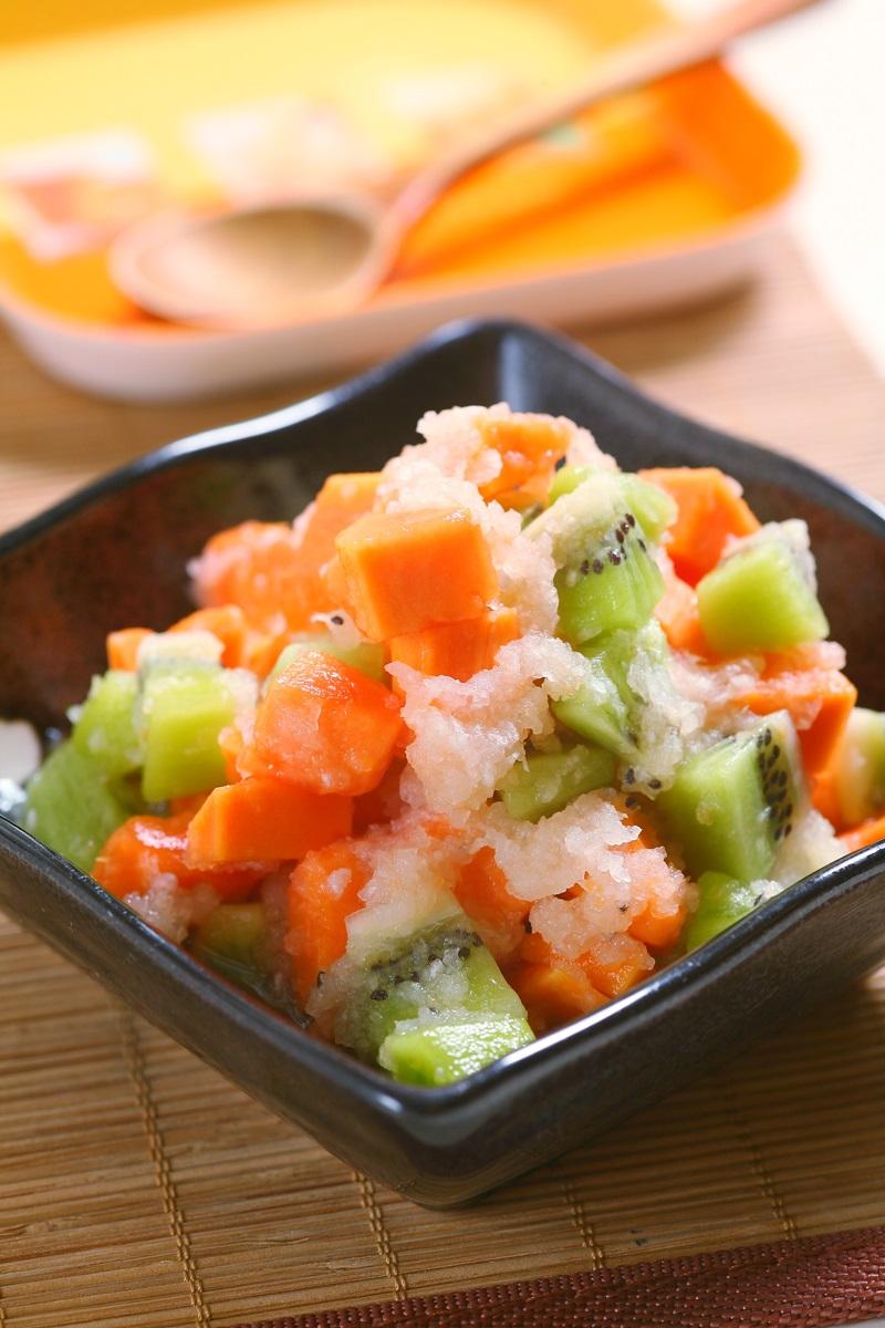 日式涼拌水果雪泥