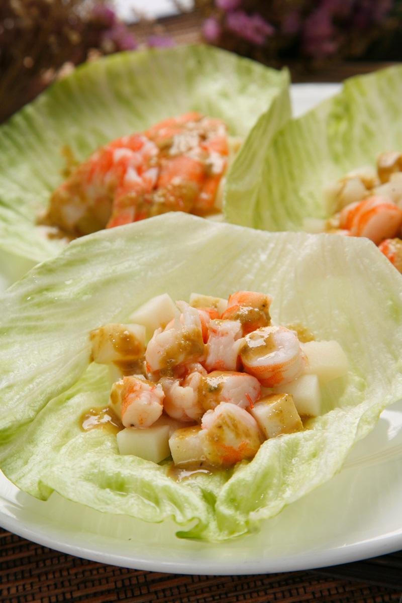 蝦子生菜包