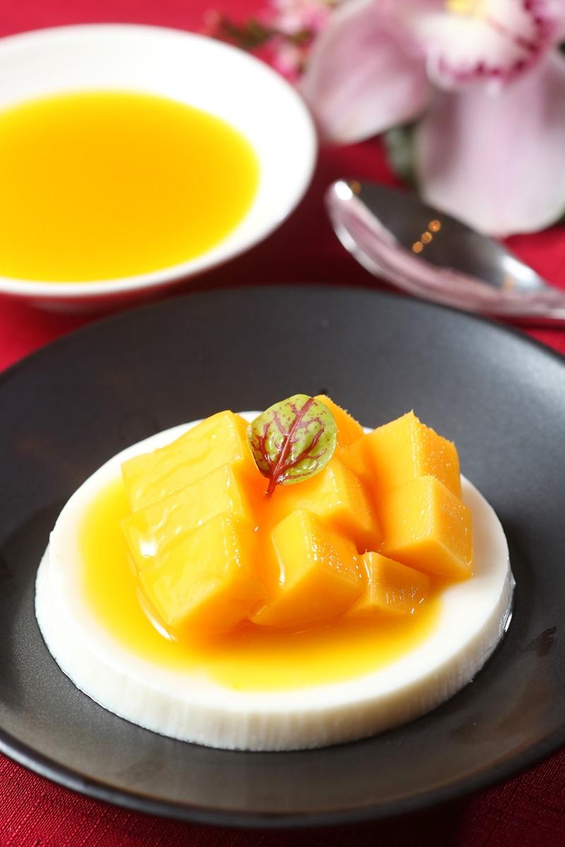 芒果杏仁豆腐