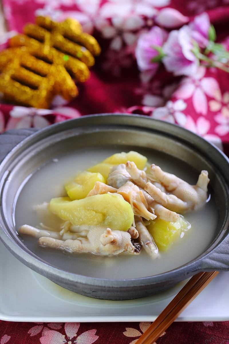櫛瓜干貝煲鳳爪