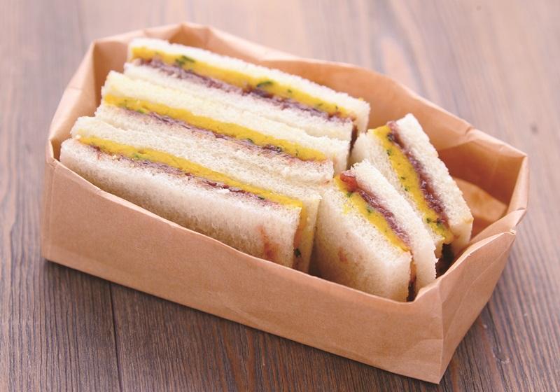 南瓜紅豆泥三明治