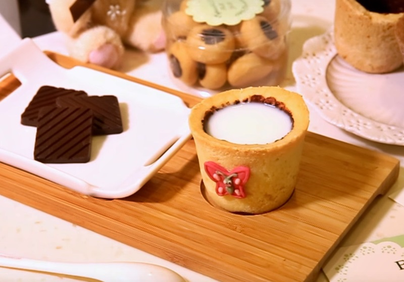 能喝也能吃♡餅乾杯子 (影片)