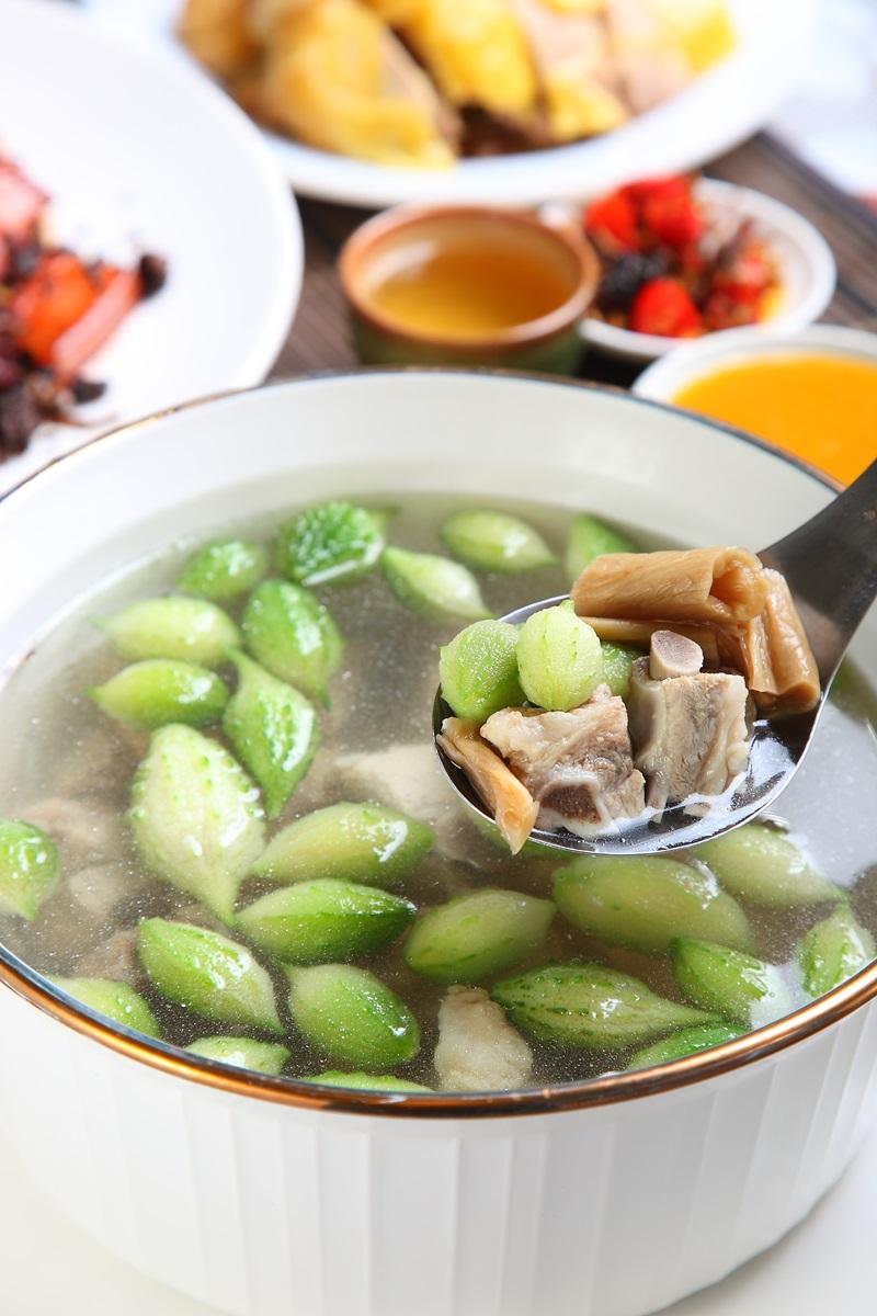 山苦瓜福菜湯