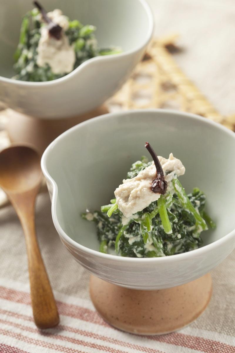 日式芝麻菠菜豆腐