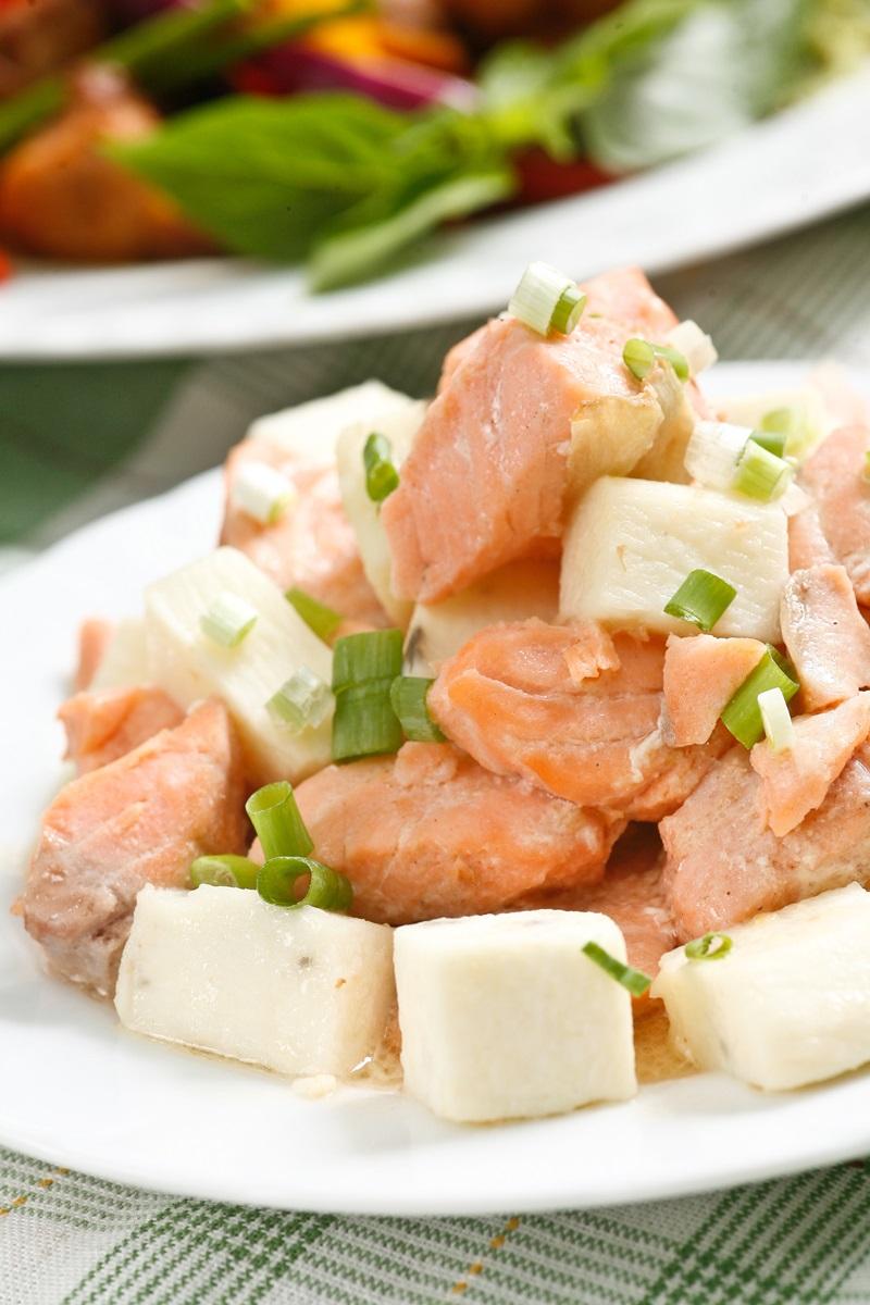 日式鮭魚山藥味噌燒