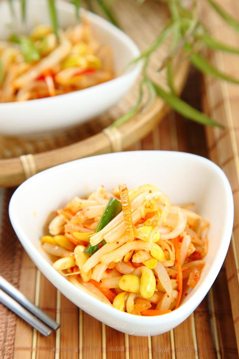 韓式辣味黃豆芽