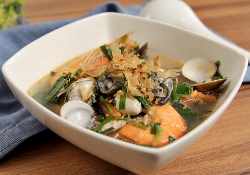 補氣韭菜海鮮湯 (影音)