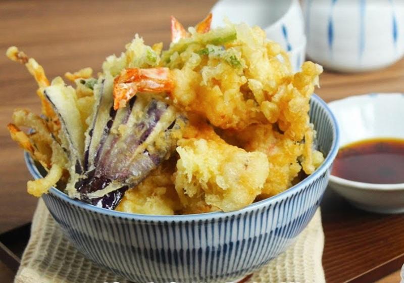 酥炸天婦羅丼飯 (影片)