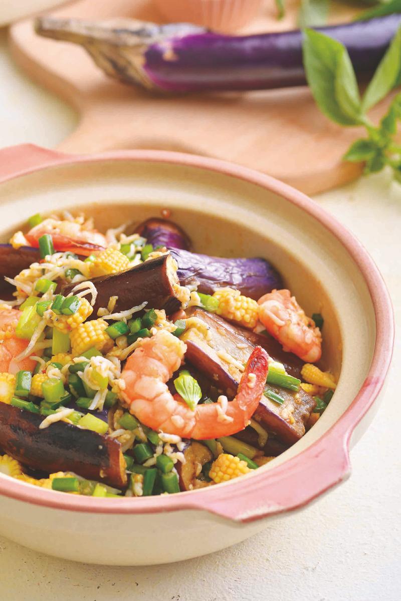 魚香茄子海鮮煲
