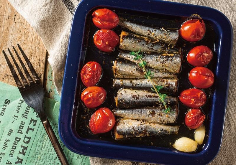 番茄烤油漬沙丁魚