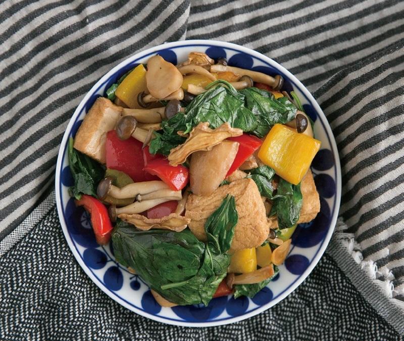低醣料理 | 三杯豆腐菇菇時蔬