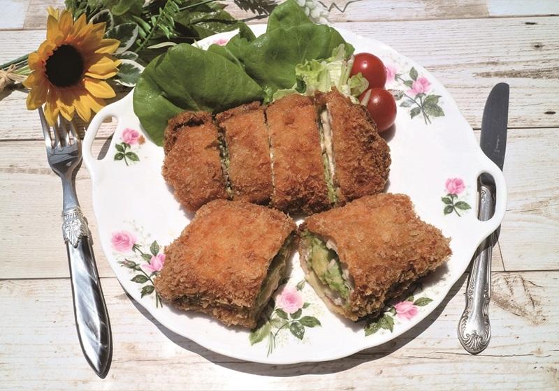 日式千層起司酪梨炸豬排