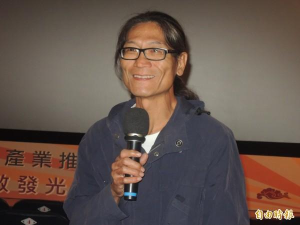 導演林福清與社區力量發起「左鎮」救名行動。(記者洪瑞琴攝)