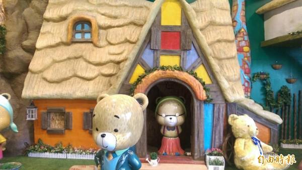 熊大庄以熊為主題,可愛又療癒。(記者王善嬿攝)