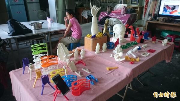 3D列印的東西可以運用在日常生活中(記者葉永騫攝)