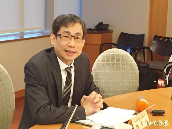 永豐金總經理張晉源今日表示,本來認為參股案可以隨時執行,沒想到會一直延。(記者王孟倫攝)
