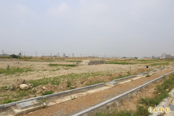 水湳會展中心基地面積7.3公頃。(記者張菁雅攝)