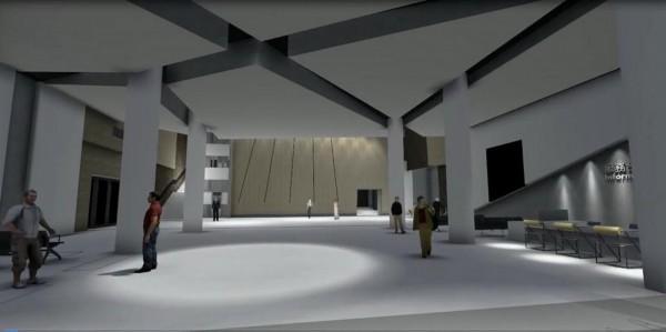 新營文化中心內部3D示意圖。(圖由李退之提供)