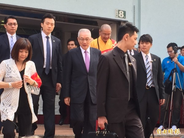 副總統吳敦義出席活動,稱馬習會能引導兩岸和平發展。(記者陳韋宗攝)